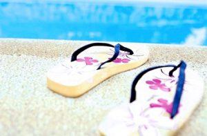 slippers voor het strand