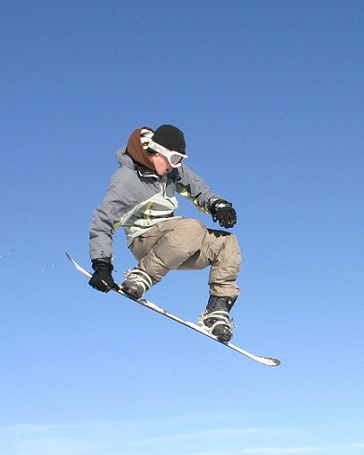 snowboarder met skibril